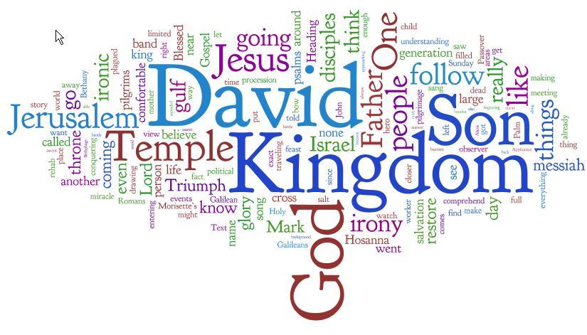Paln Sunday At Bloor Lansdowne christian Fellowship Church Wordle