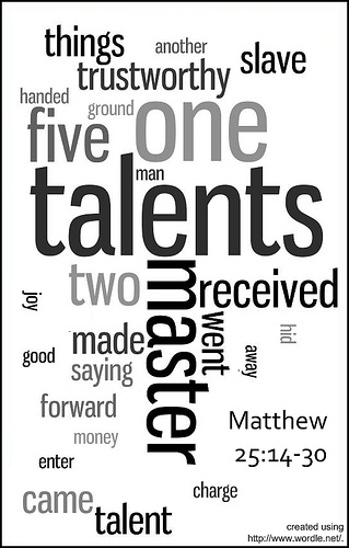 Bloor Lansdowne Christian Fellowship: 10 Talents Wordle