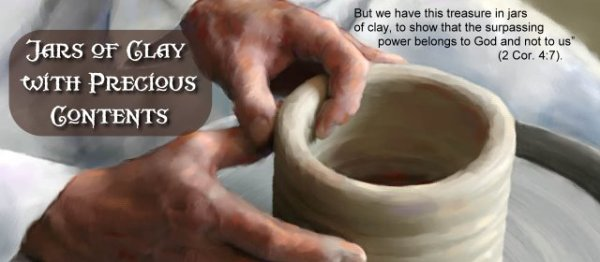 jars of clay in the potter's hand