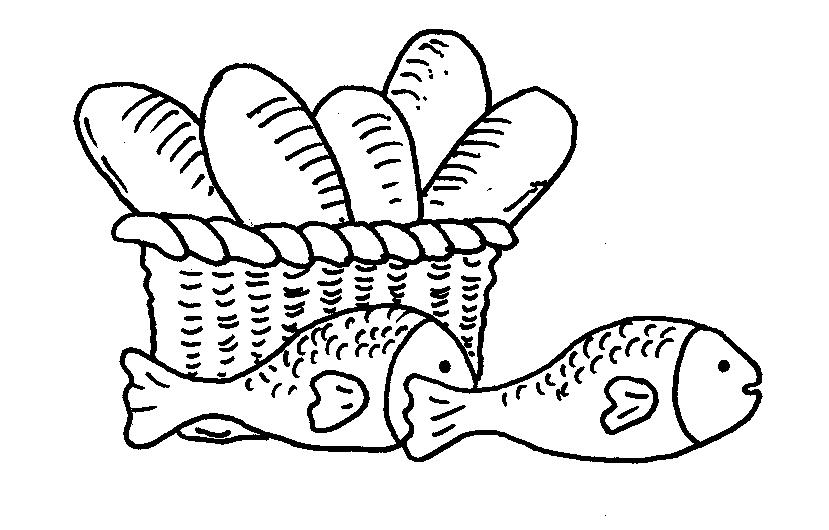 It is a graphic of Crazy Free Bible Coloring Pages Loaves And Fishes