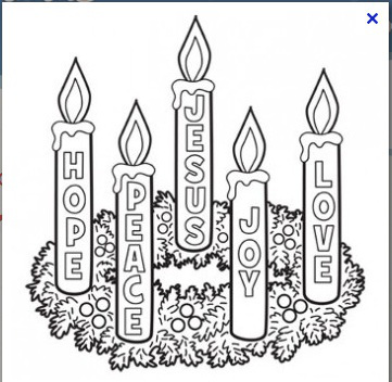 Advent Candle Coloring Page Advent: filled with the joy