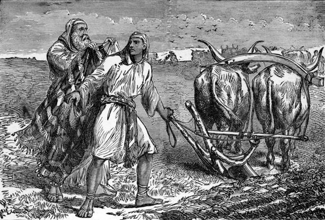 BLCF:1-Kings-19-19-Elijah-casting-his-mantle-on-Elisha