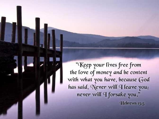 BLCF: Hebrews-13-5