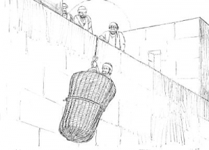 BLCF: Paul_lowered_in_a_basket