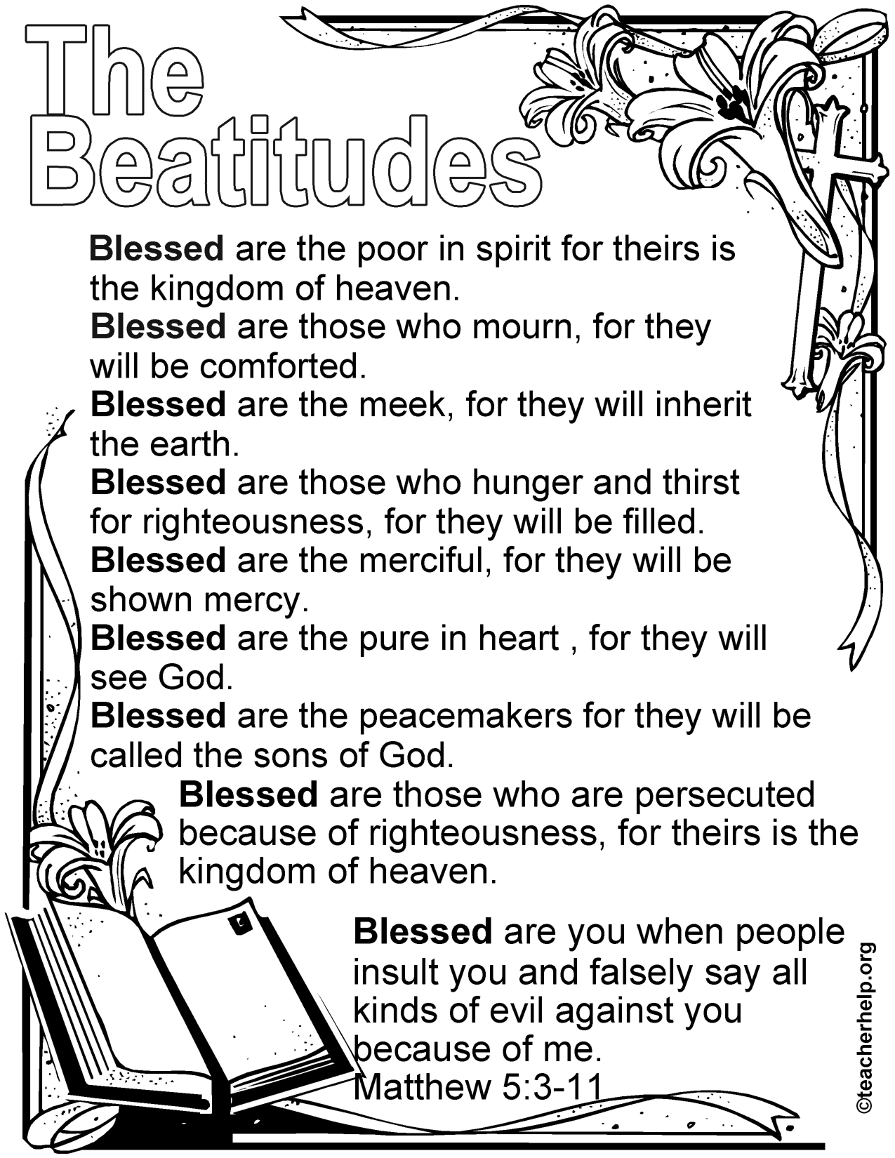 the beatitudes coloring pages - photo#6