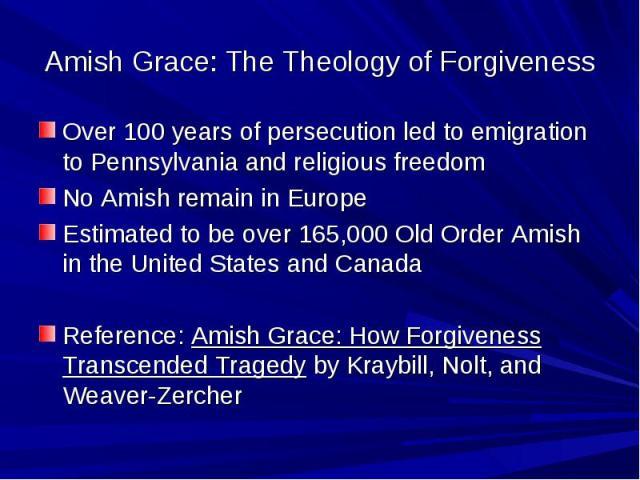 BLCF: Amish