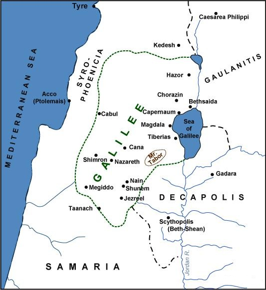 BLCF: Mount-Tabor-Galilee-Holy-Land-Map