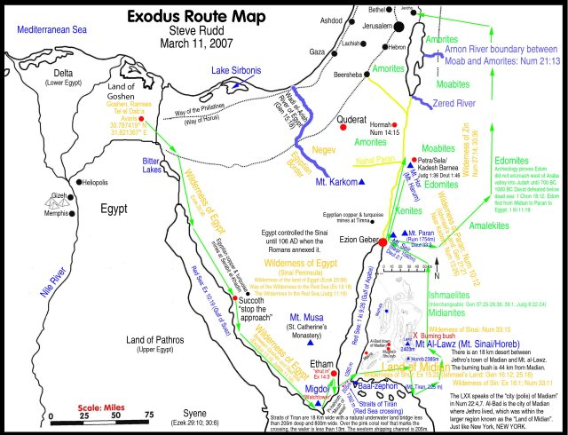 BLCF: map-bible-archeology-exodus-route