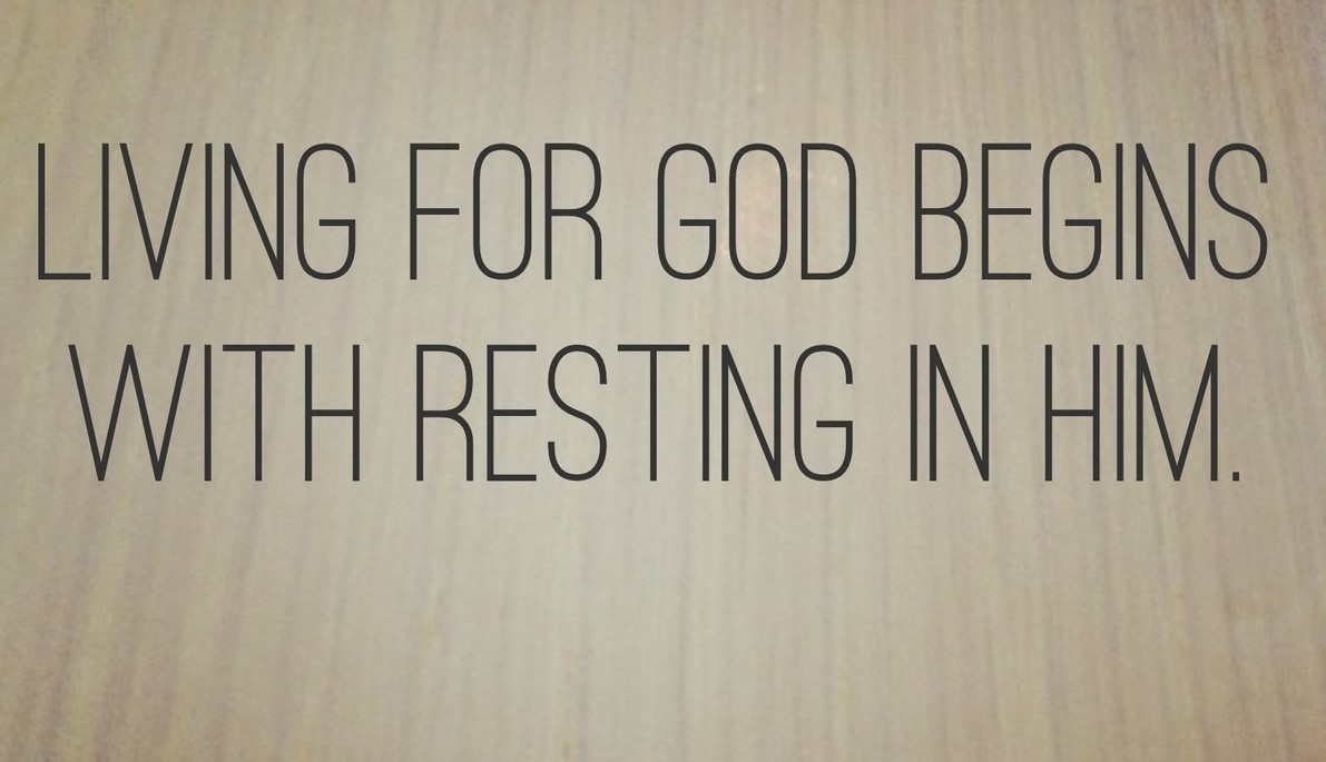 Image result for WHEN TO REST on Him""