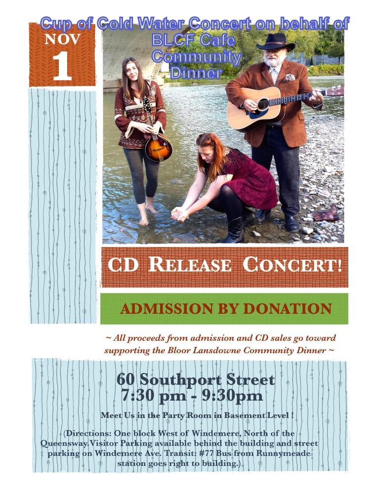 Fundraiser  Concert  to Benefit the Homeless at the BLCF Cafe Community Dinner November 1, 2014 (1/2)