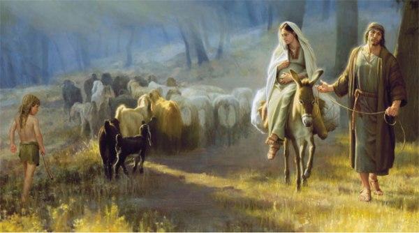 BLCF: marry-on-donkey-and-joseph-travel-to-bethlehem