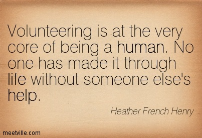 BLCF: volunteering