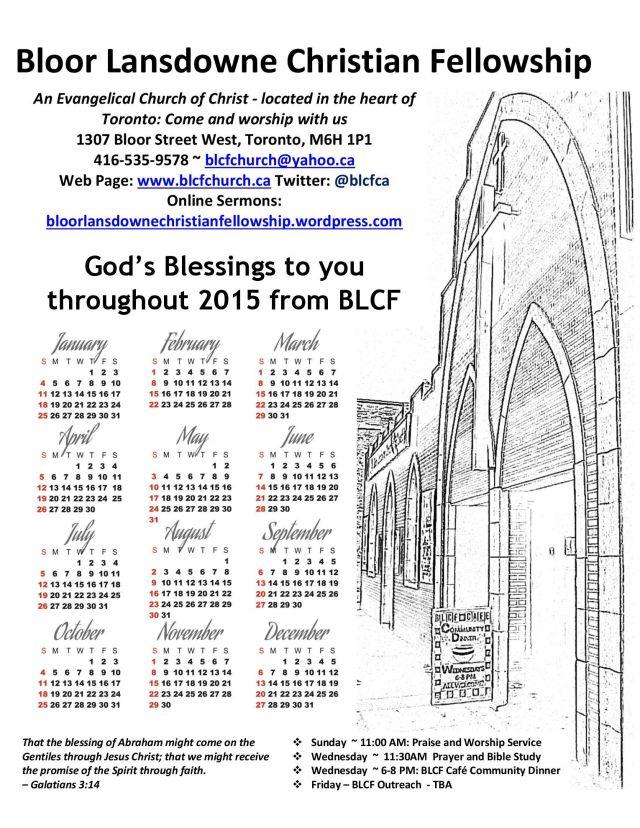 BLCF Church Calendar 2015
