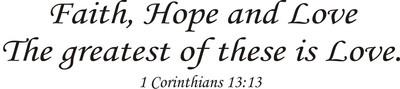 BLCF: faith hope and love