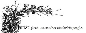 BLCF: Christ pleads as an advocate for his people_