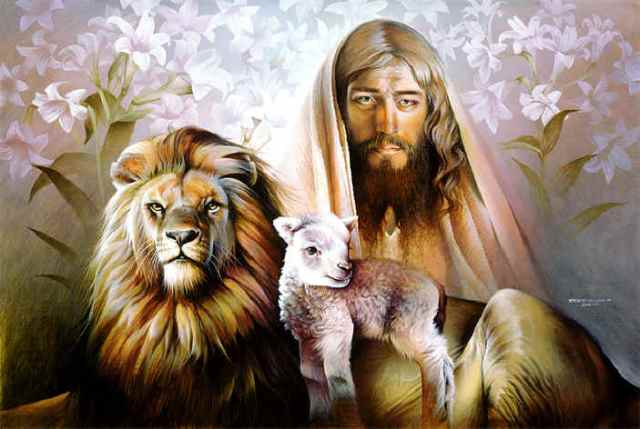 BLCF: Jesus-Picture-With-Lion-And-Lamb