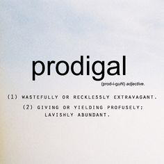 BLCF: prodigal_definition