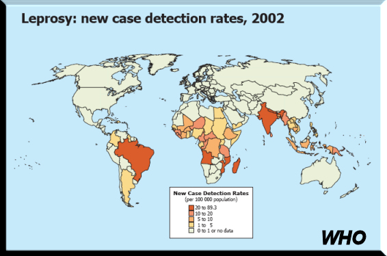 BLCF: Leprosy Rates 2002 - WHO