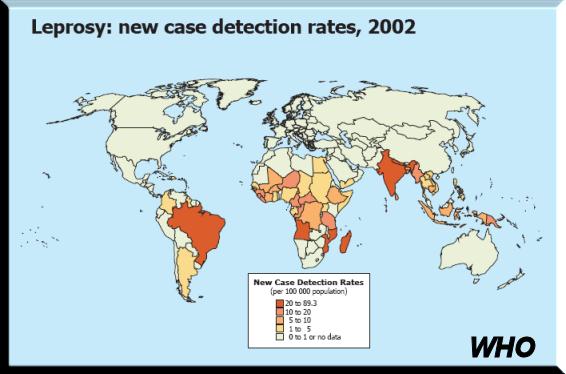BLCF: Leprosy Rates 2002 - WHO