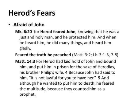 BLCF:  Herod's Fears