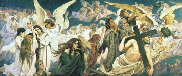 BLCF: viktor-vasnetsov-rejoice-in-the-lord-o-ye-righteous-panel-1-of-the-triptych-1896
