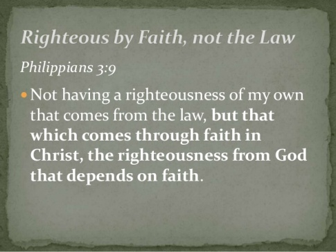 BLCF: righteousness-by-faith