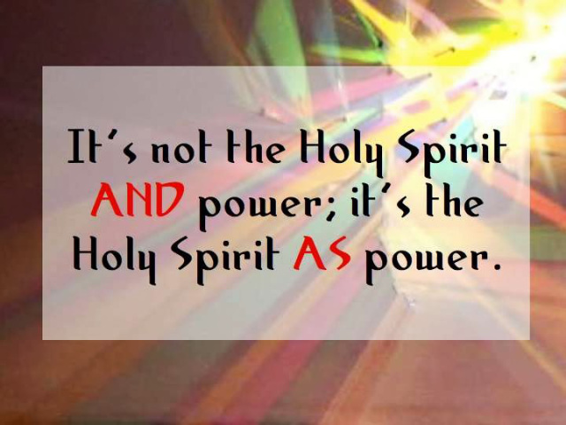 BLCF: holy-spirit-as-power