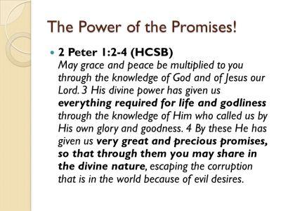 BLCF: 2 Peter-Promises