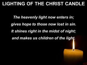 BLCF: Christ-candle