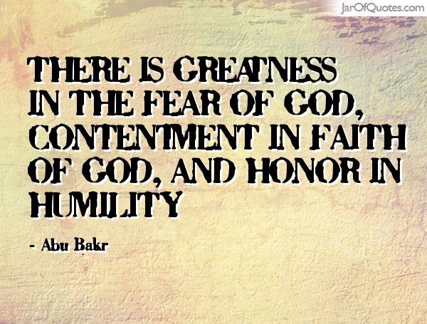 BLCF: fear-faith-humility