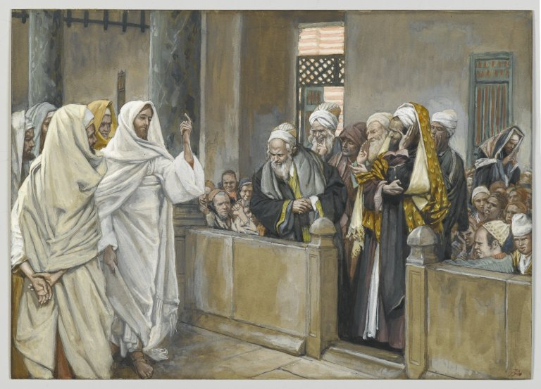 Pharisees Jesus temple questioning Jesus