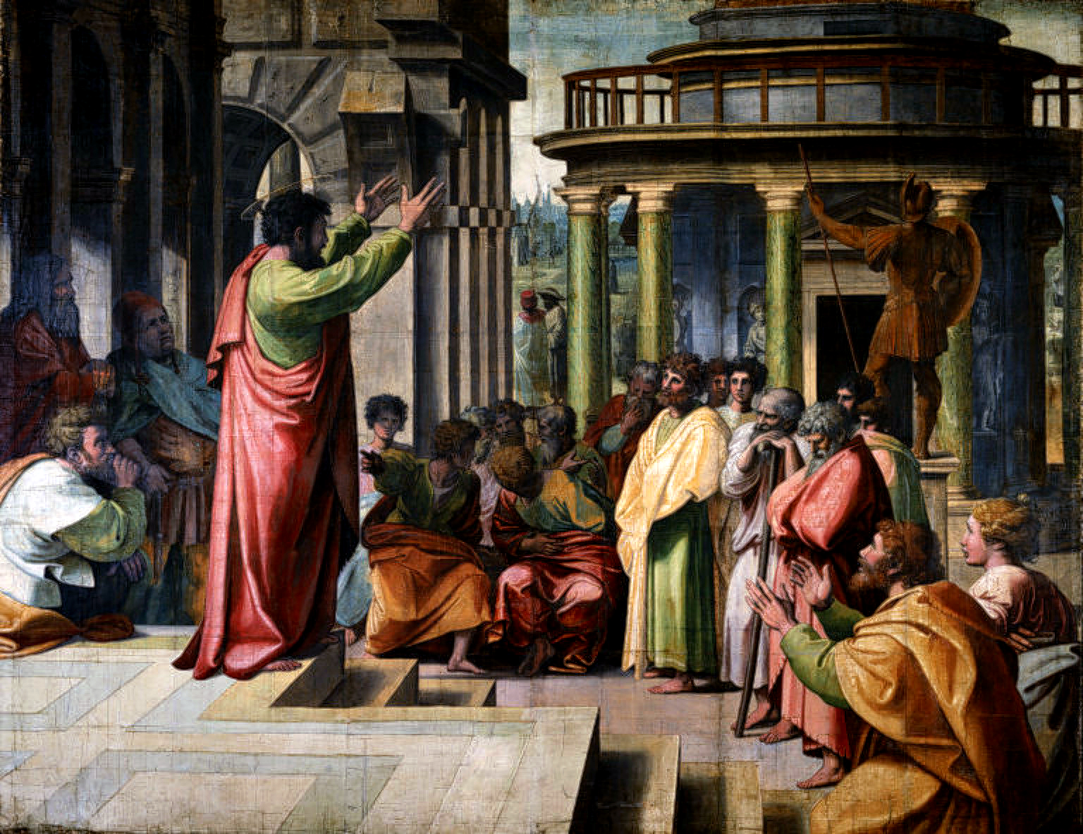 Areopagus_Raphael,_St_Paul_Preaching_in_Athens_(1515)